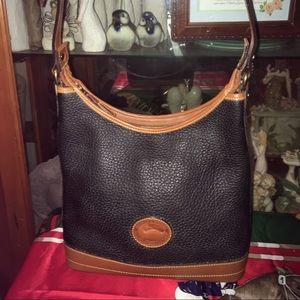 Vintage Dooney & Bourke Leather Hobo Shoulder Bag